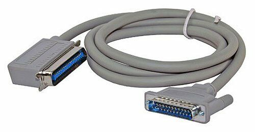 Grey Right Angle Centronics to DB25-M Printer Cable 6 feet long