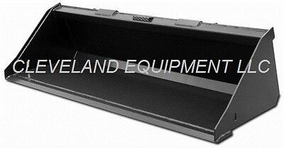 New 60 Low Profile Industrial Grading Dirt Bucket Skid Steer Loader Attachment