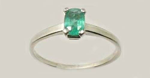 Colombian Emerald Ring ½ct Antique 19thC - Gem of Ancient Greece Aristotle Plato