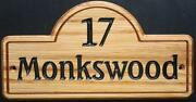 House Number Plaques Wood