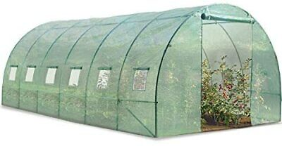 Grande serre de jardin tunnel 7 arceaux Pro galvanise 18m² 6x3x2m