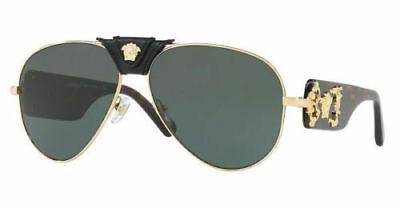 c1a6b3c7cee Authentic Versace VE2150Q 1002 71 62mm Sunglasses Gold Havana   Grey Green  Lens