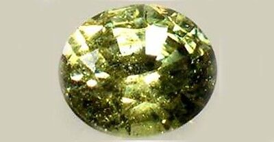 RARE ½ct Antique 19thC Demantoid Garnet Ancient Greek Roman Celt Persian Amulet