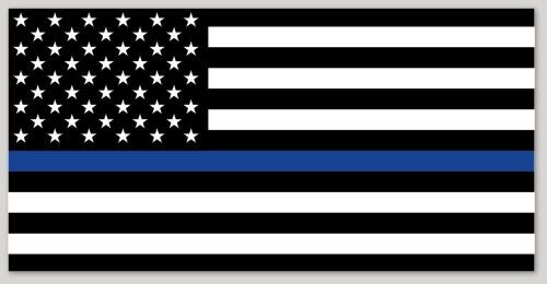 Police Thin Blue Line Decal American Flag bumper sticker Law Enforcement Officer