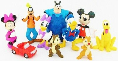 Mickey Mouse Clubhouse Figure Set Disney Pvc Toy Cake Topper Minnie Pete Daisy
