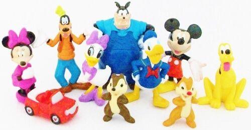 *MICKEY MOUSE CLUBHOUSE Figure Play Set DISNEY PVC TOY PETE Pluto MINNIE Goofy!*