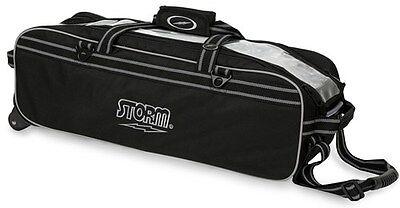 Storm Black Tournament 3 Ball Tote Bowling Bag