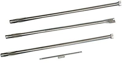 Music City Metals 134D4 Stainless Steel Burner Set for Weber Brand Gas Grills -