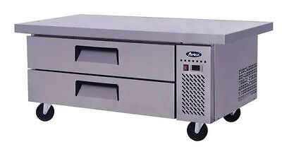 Atosa Commercial 60 2 Drawer Refrigerated Chef Base Cooler Wcasters Free Ship