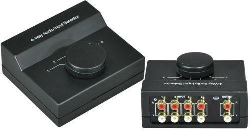 audio input selector ebay. Black Bedroom Furniture Sets. Home Design Ideas