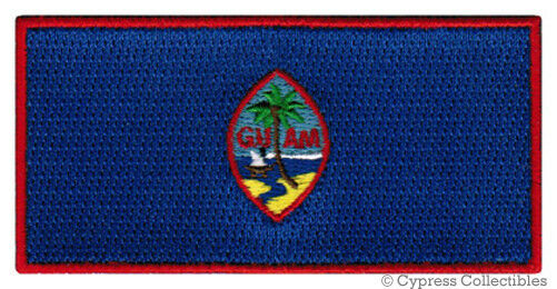 GUAM FLAG embroidered iron-on PATCH GUAMANIAN EMBLEM UNITED STATES TERRITORY