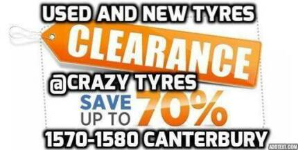 13 inch Second Hand Used Car Tyre From $15 Each @ Crazy Tyres Bankstown Bankstown Area Preview