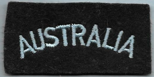 British Royal Air Force RAF Repro Nationality Title Patch AUSTRALIA
