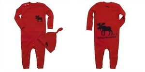 Brand New Hatley Baby Coverall & Hat - Red Moose