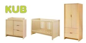 Nursery set with under cot drawer & mattress