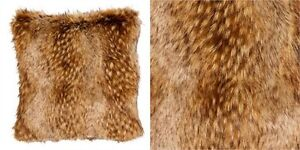 2 NEW WITH TAGS FAUX FUR CUSHION COVERS
