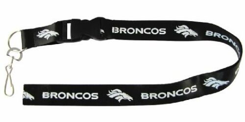 Denver-Broncos-Blackout-Licensed-Keychain-ID-Holder-Lanyard-Brand-New