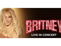 2 Britney Spears Concert Tickets - O2 Arena London - 25 August 2018 - 3rd row from the stage centre