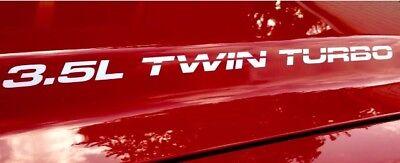 3.5L Twin Turbo Die Cut Vinyl Hood, Body Decals FITS Ford F150 V6