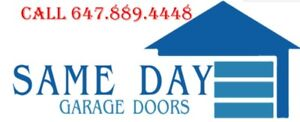 SAME DAY Garage Door And Openers Repairs CALL TODAY 647-889-4448