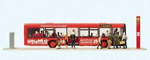 Preiser-13009-Autobus-urbano-Verkehrsbetriebe-estado-con-Abierto-Puertas