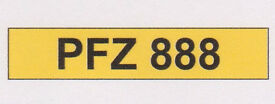 PFZ 888 Cherished Registration Number Plate - On Retention Certificate ready to transfer