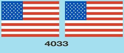 4033 O scale American Flag decal
