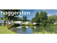 TIRED OF TOURING? UPGRADE YOUR TOURER FOR A STATIC CARAVAN AT HAGGERSTON CASTLE HOLIDAY PARK
