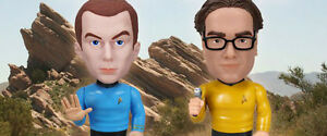 Star Trek Big Bang Theory Wacky Wobbler Bobbleheads Set