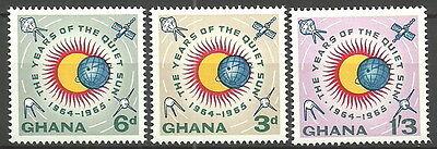 Ghana - Intern. Jahre der ruhigen Sonne Satz postfrisch 1964 Mi.Nr. 170-172