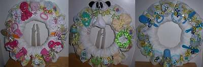 Diaper Wreaths (Baby Shower Bear Diaper)
