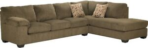 Beautiful Sectional Couch with Ottoman