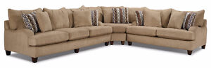 Putty Chenille Sectional - Beige