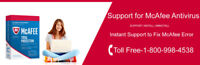 Support for McAfee Antivirus Call: +1-800-998-4538 (US/CA)