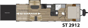 WOW!! New Cruiser RV Stryker 29' Toy Hauler with 16' Cargo area!