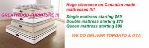 MATTRESS SALE !!! QUEEN SIZE MATTRESS STARTING $169 ONLY....