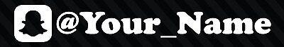 Snapchat Your User Name Handle Vinyl Decal Sticker 8  Car Username Custom Jdm