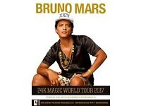 2x Bruno Mars Tickets - Manchester Arena - 2nd May 2017 - GREAT SEATS