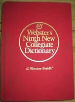 Wbster's Ninth New Collegiate Dictionary