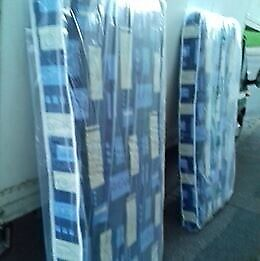 2 x Brand New Single Padded spring Mattresses Both for 65 FREE delivery