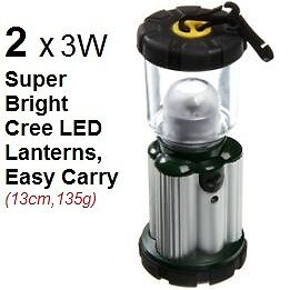 2x NEW 3 Watt CREE LED Super Bright 200 Lumens Light Lamp Lantern 3AA battery