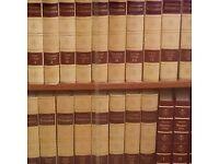 encyclopedias/in book case