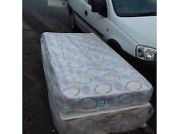 2 x Brand New Single Padded Spring mattress and Base Bed set FREE delivery 90 for both
