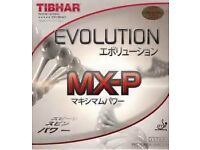 TIBHAR EVOLUTION MXP TABLE TENNIS RUBBERS ,NORMALLY COST £40 PER SHEET