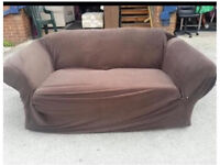 Brown fabric sofa FREE TO COLLECT