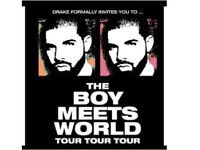 **2 tickets for Drakes BMWT** on SATURDAY 4th February at London O2