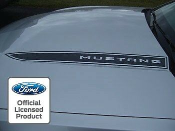 2010 2012 Ford Mustang Hood Spear Cowl Stripe Graphic Decal Sticker Package Loa