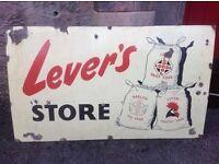 Wanted old advertising metal sign vintage antique shop enamel