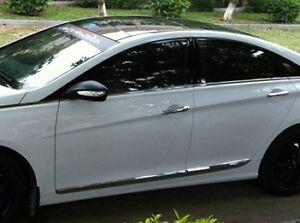 Stainless Steel Door Side Molding Trim Chrome For Hyundai Sonata 8 2011 2012 Ebay