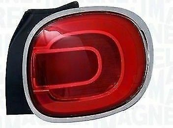 FANALE FANALINO STOP POSTERIORE DESTRO DX FIAT 500L DAL 2012 CON CORNICE CROMATA